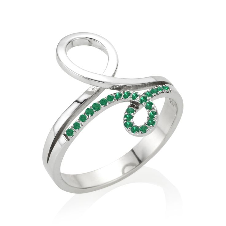 Tia 21Collection - #Smaragd Weißgoldring - #Ring mit Smaragd