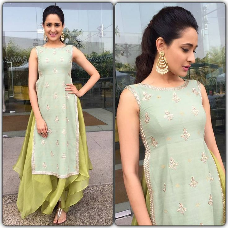 Pragya Jaiswal. breezy look for Om Namo Venkatesaya promotions! Styled by Anisha Gandhi and Rochelle D'sa in this lovely Anushree Reddy outfit and Ghanasingh Be True jewellery 16 February 2017