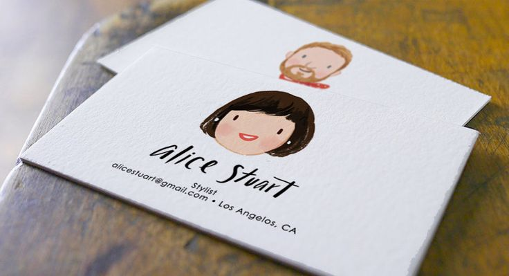 Custom Illustrated Personalized Business Cards by kathrynselbert