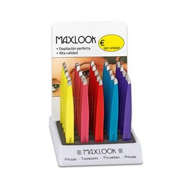 Maxlook Pinzas de depilar MaxLook Pinzas de depilación con punta plana te asegura una perfecta limpieza de pelos incomodos.