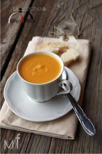 zuppa zucca e latte di cocco