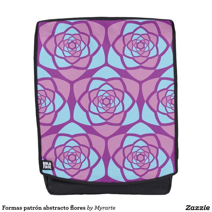 Formas patrón abstracto flores. Regalos, Gifts. #mochila #backpack