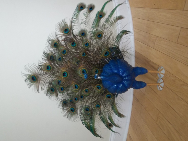 Peacock From A Pumpkin Love It Holiday Ideas