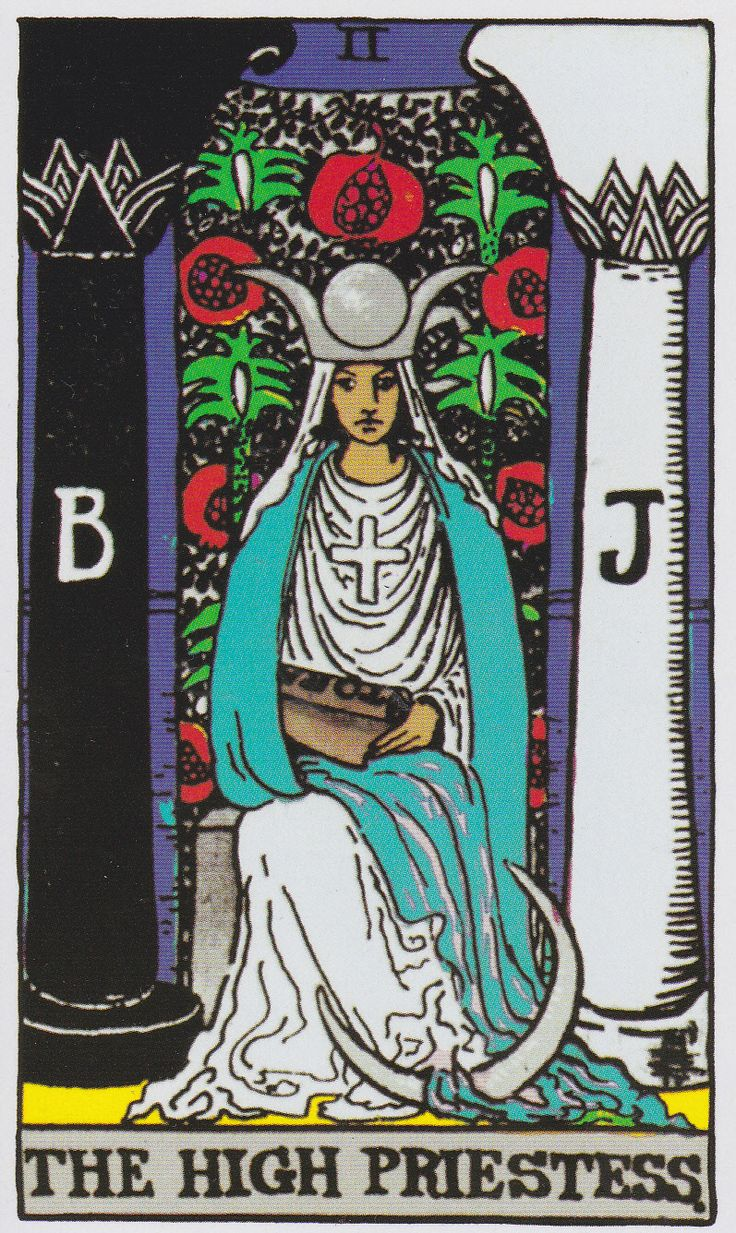The High Priestess - Albano-Waite Tarot
