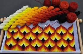 Resultado de imagen de bordado florentino bargello