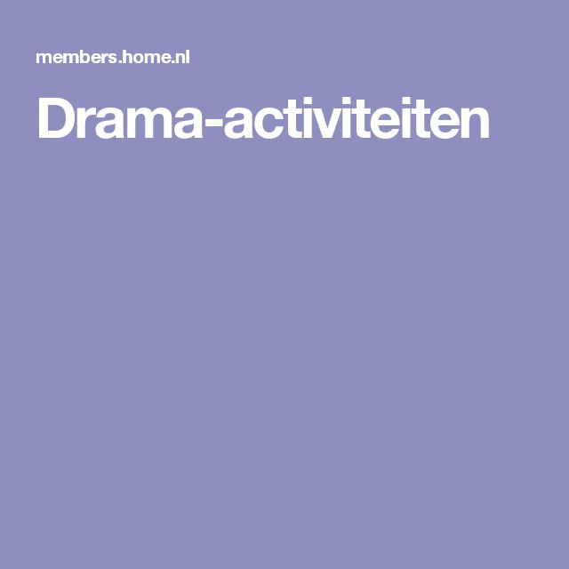 Drama-activiteiten