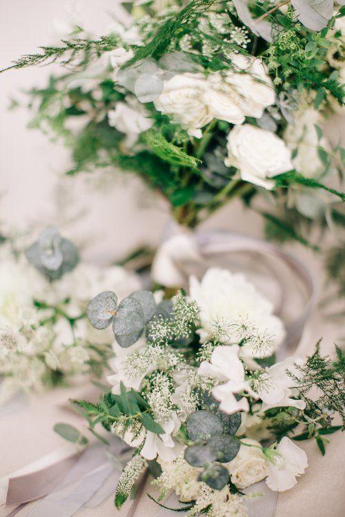 Styling by Jessica | Wedding flowers Cambridge London Essex | Countryside wedding, loose natural wild wedding flowers neutral green white dahlia foliages silk ribbon bridal bouquet greys blues