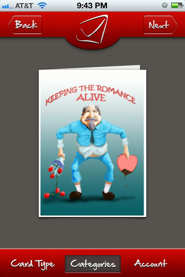 Valentine's Day card - keeping romance alive