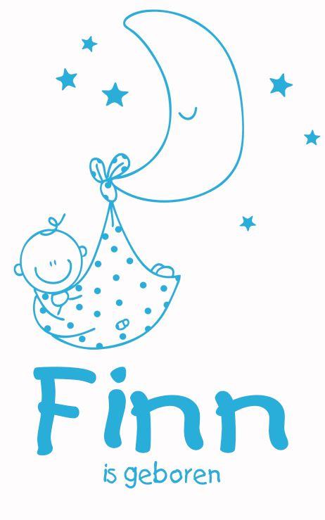 Geboortesticker baby type Finn