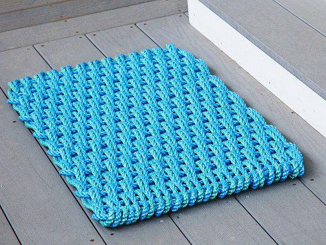 Blue & Green Nautical Door Mats by The Rope Co.