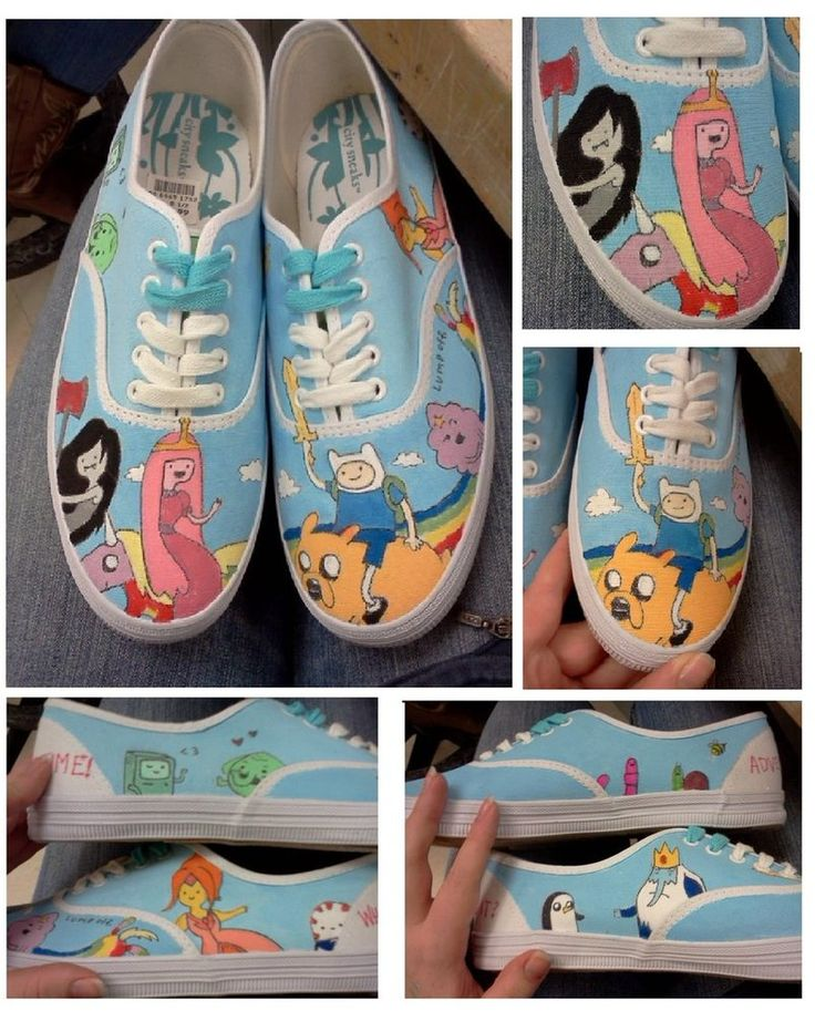 Evie's bday. Shoe template  Adventure Time Shoes II by ~k-renee-shoes on deviantART