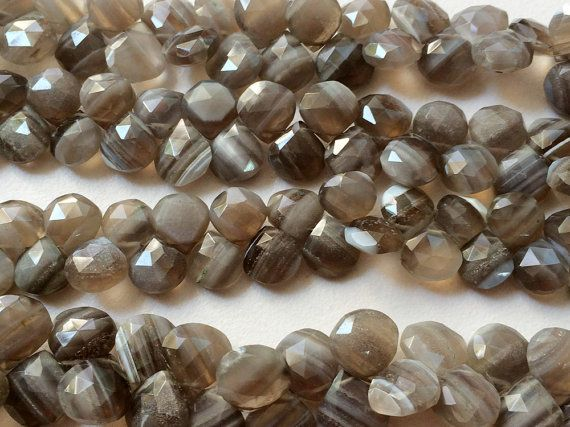 Boulder Opal Beads Boulder Opal Faceted Heart by gemsforjewels
