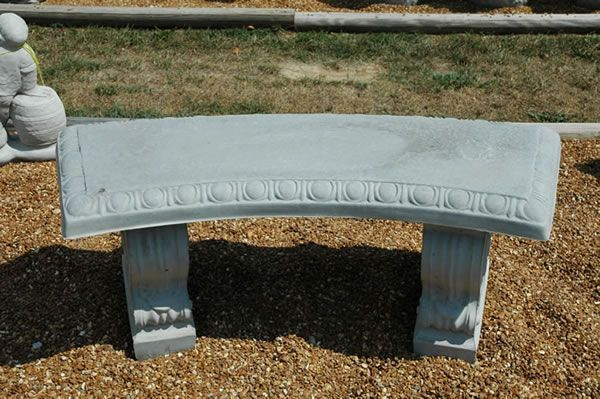 Pats Concrete Benches Plain Curved Concrete BenchWidth 42
