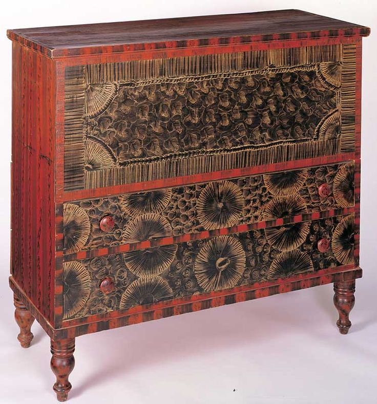 Exceptional Fancy Painted Chest~ New England, Courtesy Of The American Folk Art Museum,  Gift Of Jean Lipman In Honor Of Cyril Irwin Nelson