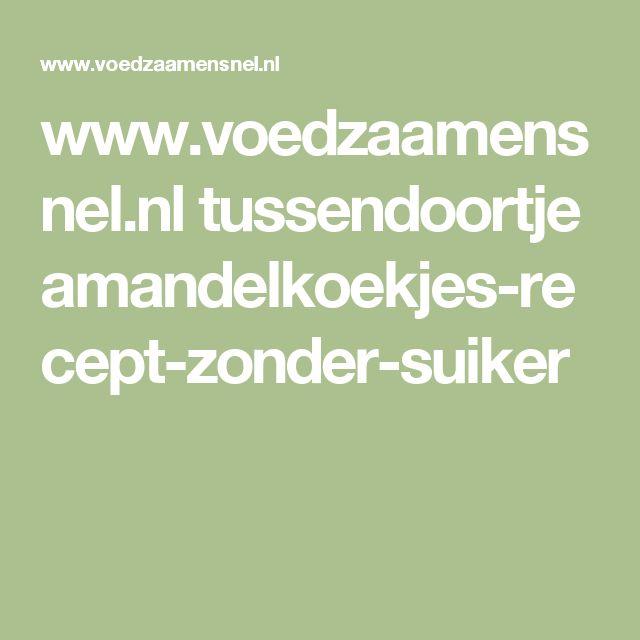 www.voedzaamensnel.nl tussendoortje amandelkoekjes-recept-zonder-suiker