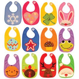 Baby Bibs 3 Pattern- cute baby shower gift for them to use through the Holidays