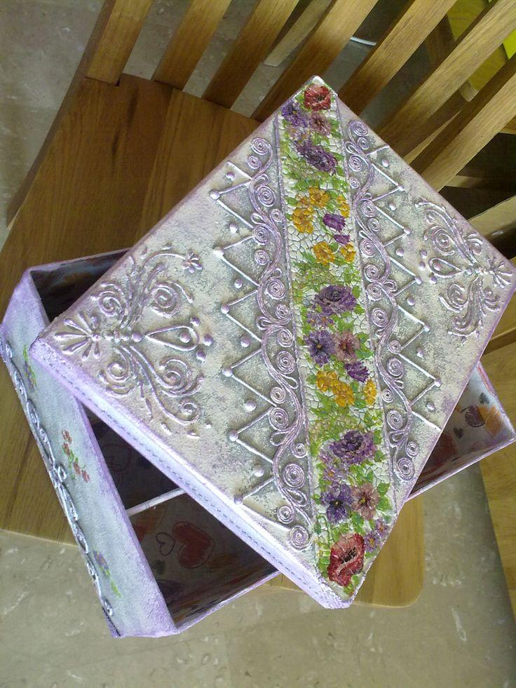 idee rigalo fatto a mano, Scatola di cartone, salvette,  idea Handmade Papier Mache