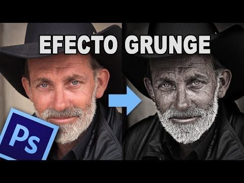Tutorial photoshop: efecto grunge by @Prisma Tutoriales en @Ildefonso Segura - YouTube