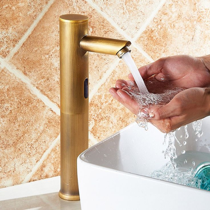 Brewst Touchless Electronic Brass Vessel Sink Faucet for Bathroom, featuring the convenience of hand-free functionality and sleek, clean appearance. Sold at only US$99.99.