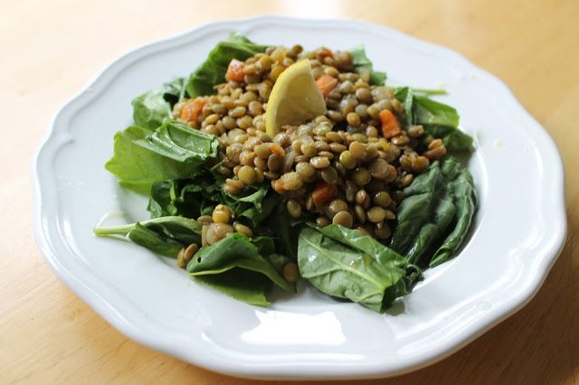 Lentil & Spinach Salad | Food | Pinterest
