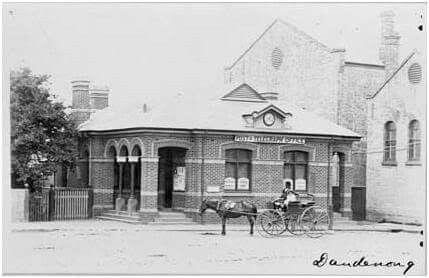 Post and Telegraph Office at Dandenong,Victoria.