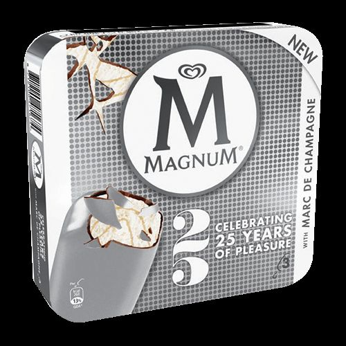 Magnum Marc de Champagne - limited edition Magnum ice cream with Marc de Champagne.