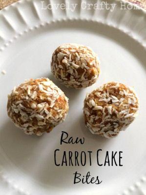 Whole Life Challenge Recipe: Raw Carrot Cake Bites Paleo/Primal Lovely Crafty Home