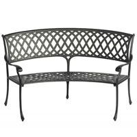 Amalfi Curved Aluminium Garden Bench by Bramblecrest - Cast Aluminium Garden Furniture