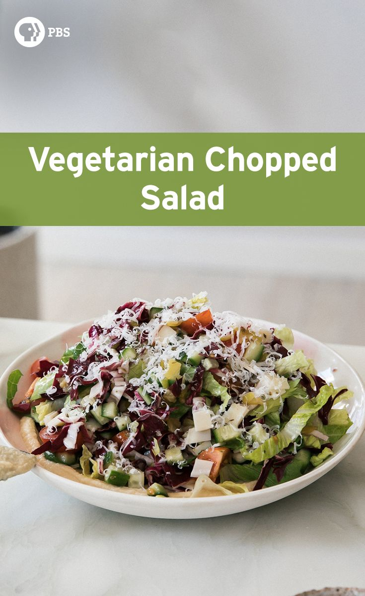 Try this alternative vegetarian Italian chopped salad with lots of olive oil, oregano and red wine vinegar as a dressing.