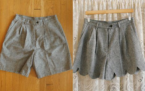 cortar short antes y después http://www.ideasdiy.com/ropa-diy/corta-tus-short-antiguos-y-recicla/                                                                                                                                                     Más