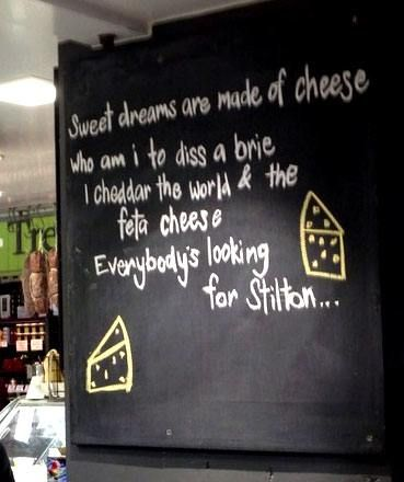 Sweet Dreams Are Made Of Cheese - Funny Sign