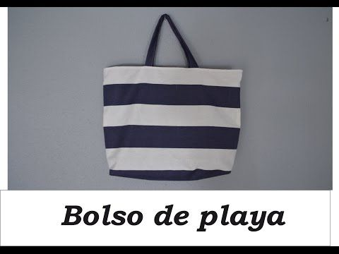 Bolso de playa con bolsillos DIY - YouTube