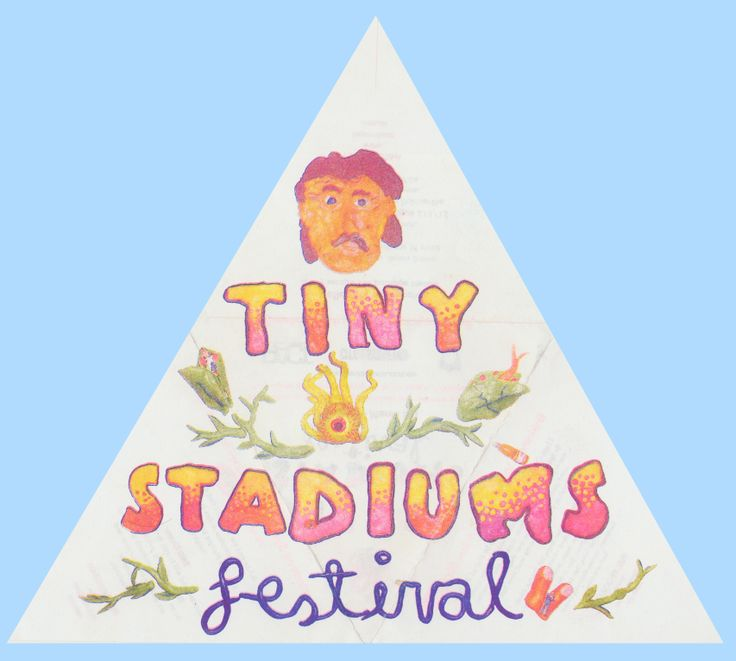 Tiny Stadiums Festival flyer - printed by us! www.rizzeria.com.