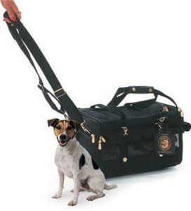 Sherpa on Wheel Dog Carrier Bag, Medium, Black: Dog Carrier