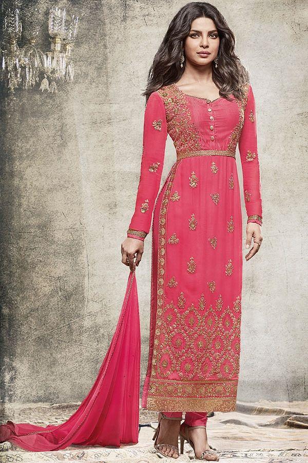 Stunning Pink Straight cut salwar suit  #salwarsuits #salwarkameez #salwarkameezonline #salwarsuitsonline #churidarsuits #DesignerSalwarSuits #palazzo suits #Salwarkameez #IndianSuits,  #AsianSuits