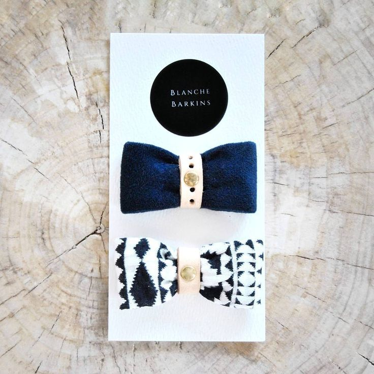 Blanche Barkins pet bow tie dogs cats velvet marketing branding design leather