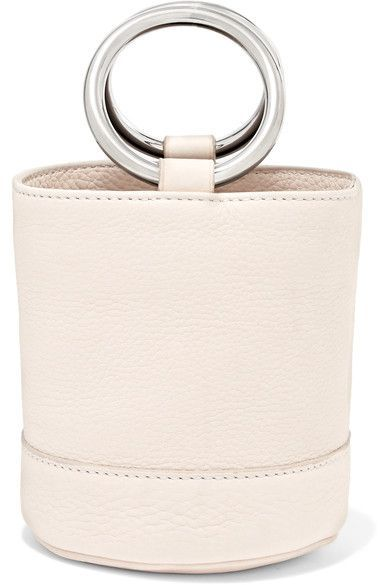 Off-white leather (Calf) Open top Comes with dust bag Weighs approximately 0.9lbs/ 0.4kg Made in Italy