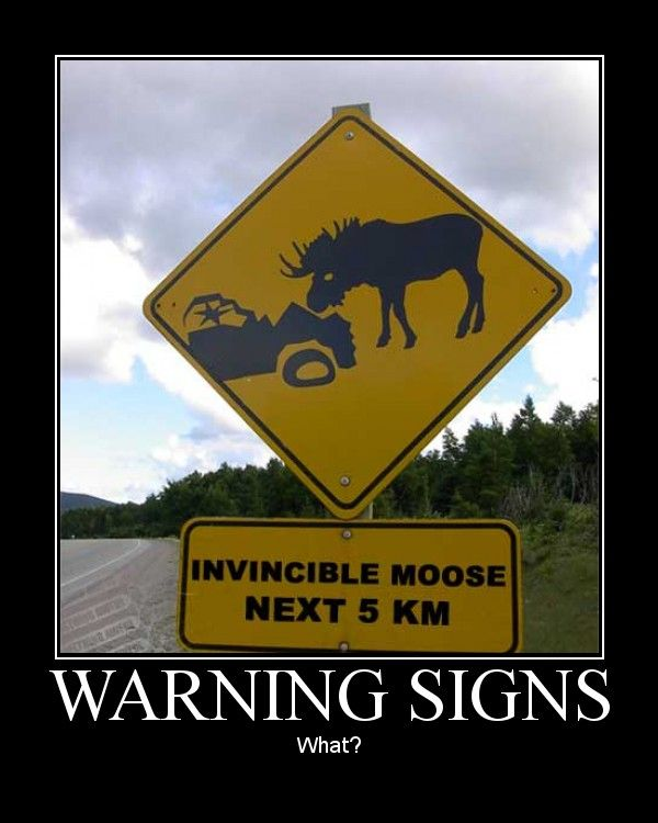 They must have a LOT of warning signs for all the various creatures that can kill you. Description from pinterest.com. I searched for this on bing.com/images