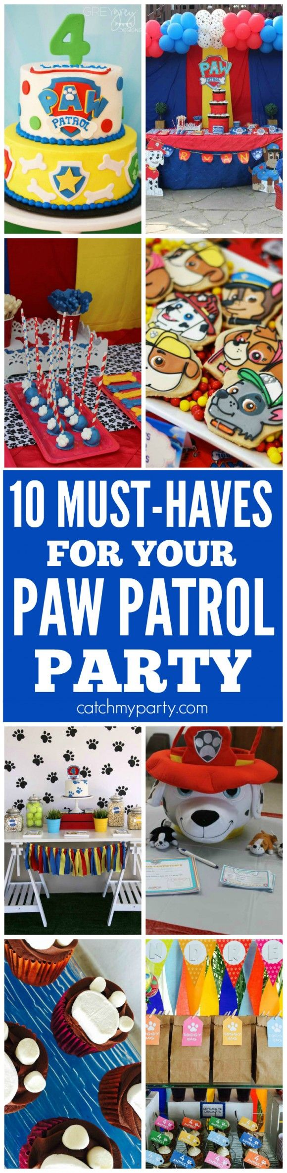 10 Must-Haves for your Paw Patrol party | CatchMyParty.com