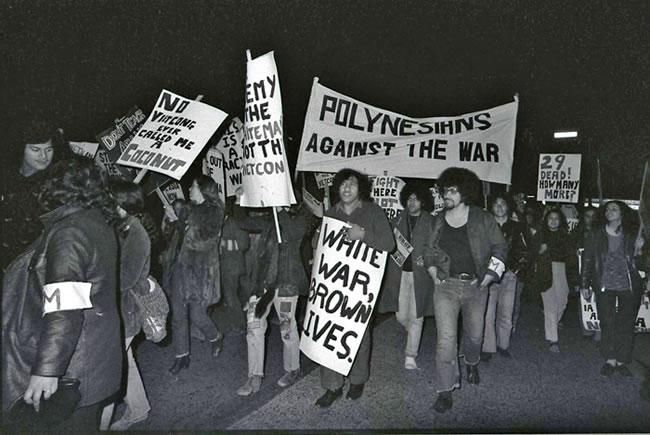 Polynesian protesters march in Auckland, 14 July 1972