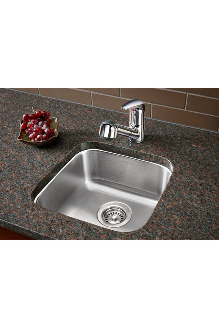 Blanco single bowl undermount bar sink for the peninsula for Colored stainless steel sinks