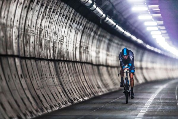 Chris Froome, The First Person to Cycle Through the Eurotunnel | Revolights