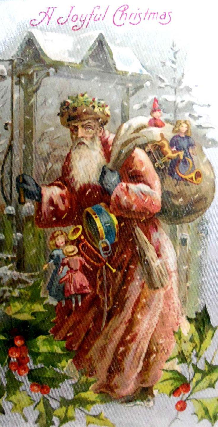 """Antique """"Saint Nicholas"""" Christmas postcard."""