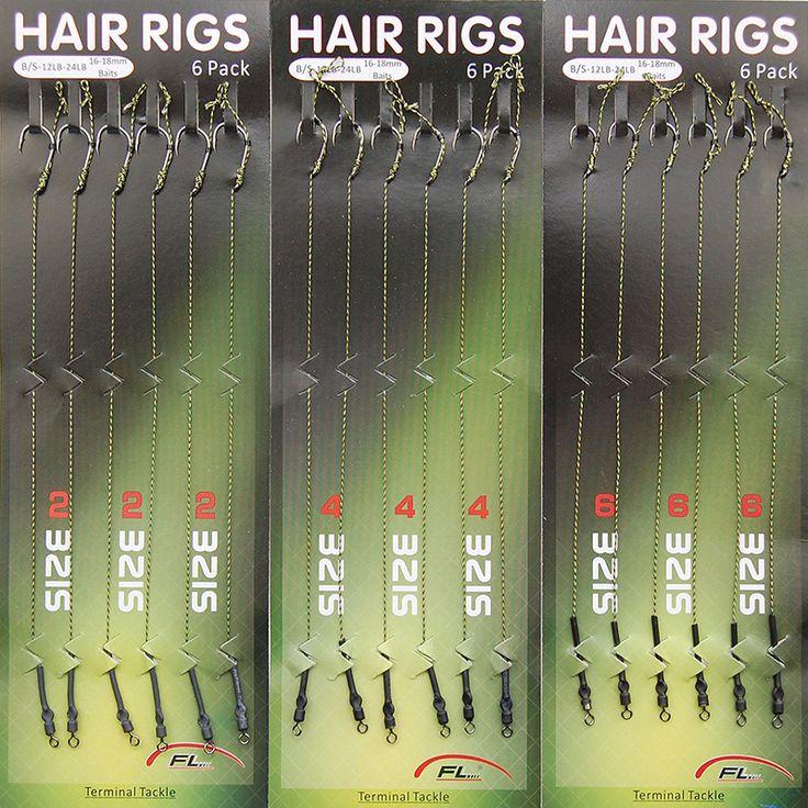 18pcs Carp Fishing Hair Rigs Braided Thread 8340 High Carbon Steel Hook Swivel Boilies Carp Rigs Carp Fishing Accessories