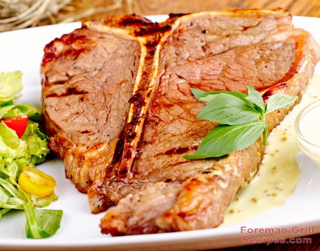 Try this amazing T-Bone Steak right on your Foreman Grill.