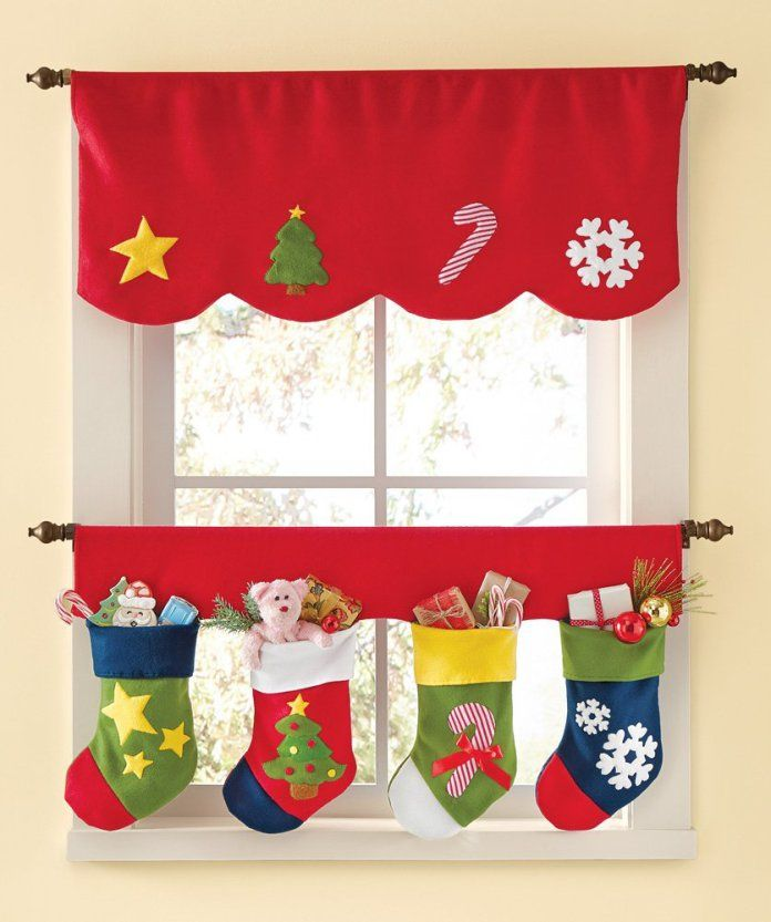 adorables diseos de cortinas para navidad