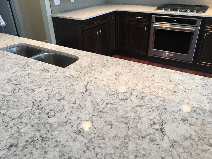 Viatera aria quartz countertop samantha 39 s kitchens for Quartz countertop slab dimensions