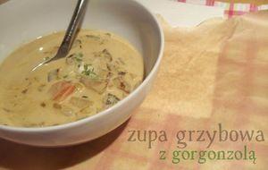 zupa grzybowa z gorgonzolą