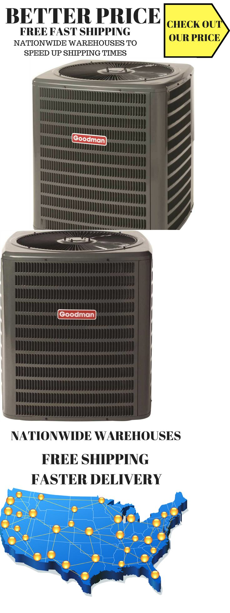 Central Air Conditioners 185108 Goodman Gsx140421 14 Seer