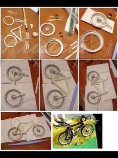 Fondant bicycle tutorial